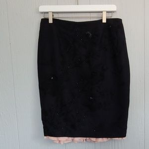 Tracy Reese Silk Embroidered Skirt NWT